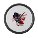 WI Familes & Workers Rights D Large Wall Clock