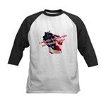WI Familes & Workers Rights D Kids Baseball Jersey