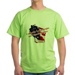 WI Familes & Workers Rights D Green T-Shirt