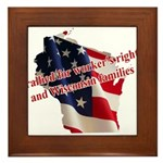 WI Familes & Workers Rights D Framed Tile