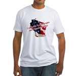 WI Familes & Workers Rights D Fitted T-Shirt