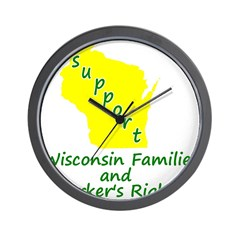 Support Green/Yellow Wall Clock