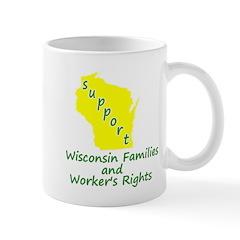 Support Green/Yellow Mug