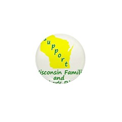 Support Green/Yellow Mini Button (100 pack)