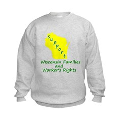 Support Green/Yellow Sweatshirt