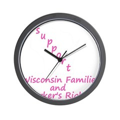 Support - Pink Wall Clock