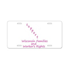Support - Pink Aluminum License Plate
