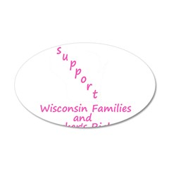 Support - Pink 38.5 x 24.5 Oval Wall Peel