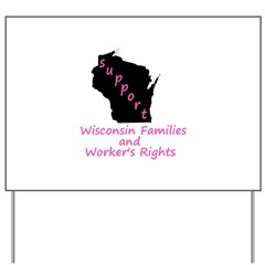 Support - Pink Yard Sign
