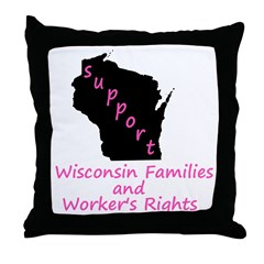 Support - Pink Throw Pillow
