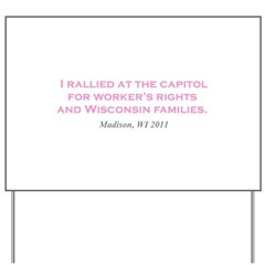 Rallied Pink Yard Sign
