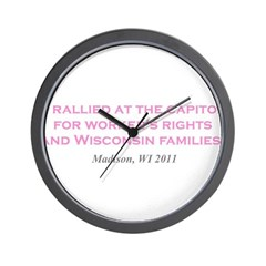 Rallied Pink Wall Clock
