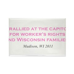Rallied Pink Rectangle Magnet