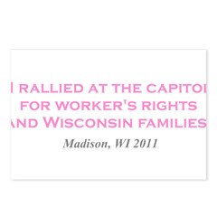 Rallied Pink Postcards (Package of 8)