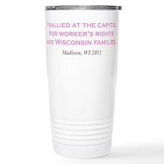 Rallied Pink Travel Mug