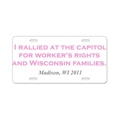 Rallied Pink Aluminum License Plate