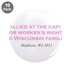 """Rallied Pink 3.5"""" Button (10 pack)"""