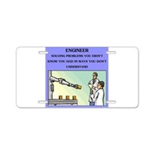 funny engineering joke Aluminum License Plate