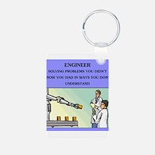 funny engineering joke Keychains
