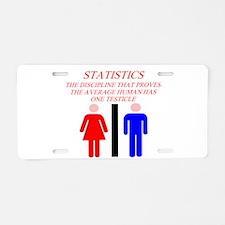 funny math statistics Aluminum License Plate