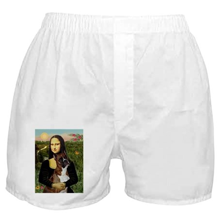 Mona & her Brindle Boxer Boxer Shorts