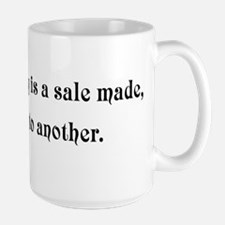 Great marketing is a sale mad Large Mug