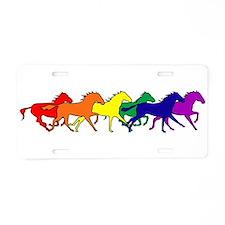 Horses Running Wild Aluminum License Plate