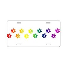 Paws All Over You Aluminum License Plate
