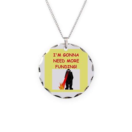 funny biology joke Necklace Circle Charm