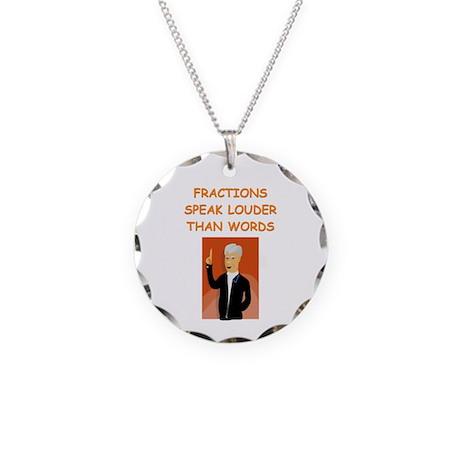 a funny math joke Necklace Circle Charm