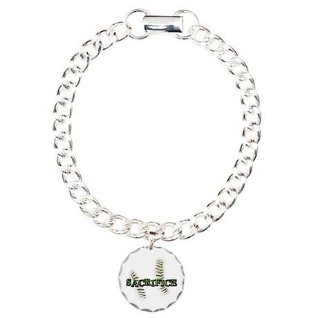 Sacrifice Fastpitch Softball Charm Bracelet, One C