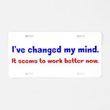 A Better Mind Aluminum License Plate