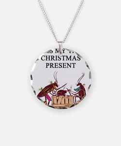 tacky christmas present Necklace Circle Charm