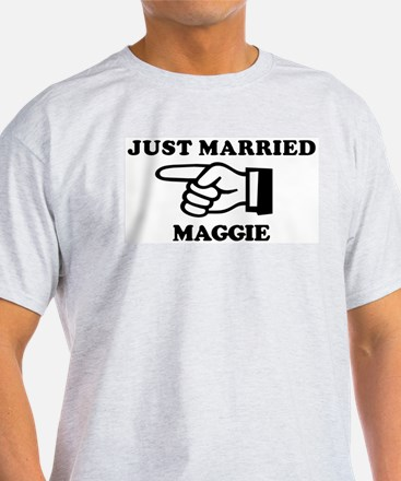 Just Married Maggie Ash Grey T-Shirt