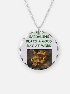 gardening joke Necklace
