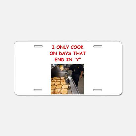 cooking gifts t-shirts Aluminum License Plate