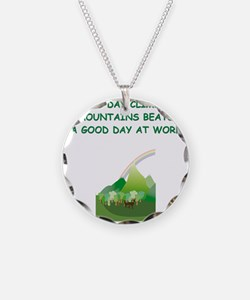 mountaineer gifts t-shirts Necklace