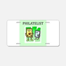 philatelist gifts t-shirts Aluminum License Plate