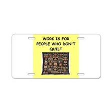 quilting Aluminum License Plate