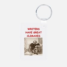 author and writers joke Keychains