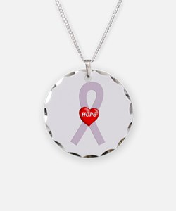 Orchid Hope Heart Necklace