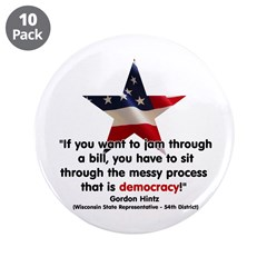 """Hintz Quote 3.5"""" Button (10 pack)"""
