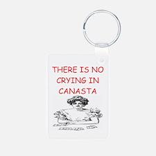 i love canasta Keychains