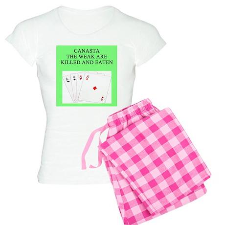 canasta player Women's Light Pajamas
