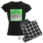 canasta player Women's Dark Pajamas