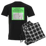 canasta player Men's Dark Pajamas