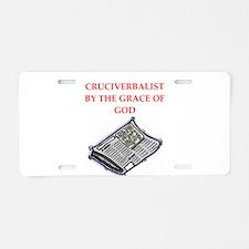 crossword puzzle Aluminum License Plate