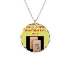 mahjong design Necklace