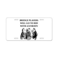 duplicate bridge player Aluminum License Plate