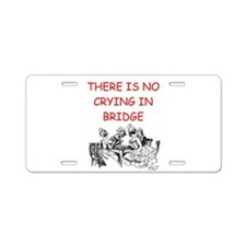 i love bridge Aluminum License Plate